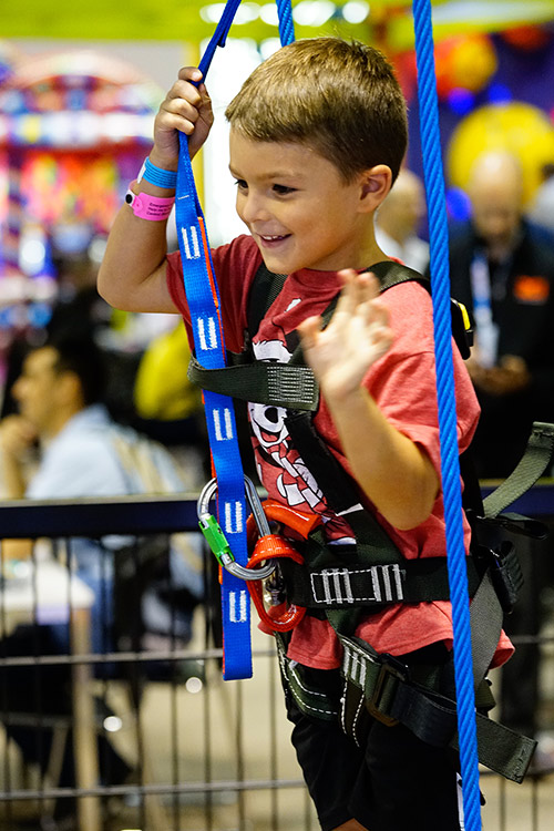 Sky Tykes Ropes Course at In The Game Hollywood Park